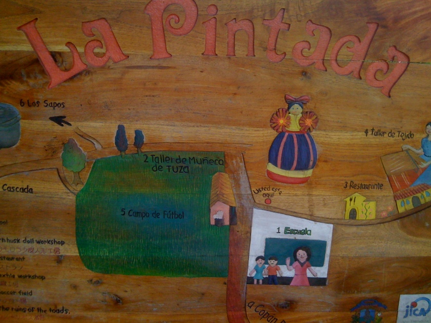 Day 6 La Pintada sign and map