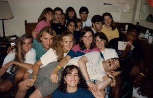 Shades Valley Presbyterian Church HS Youth Group at Montreat Youth Conference, Assembly Inn Room, July 1991