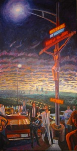 """Crucifixion at Barton Creek Mall"" by James Janknegt, 1985"