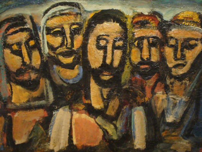 Jesus and the disciples, post Resurrection. Artist Unknown